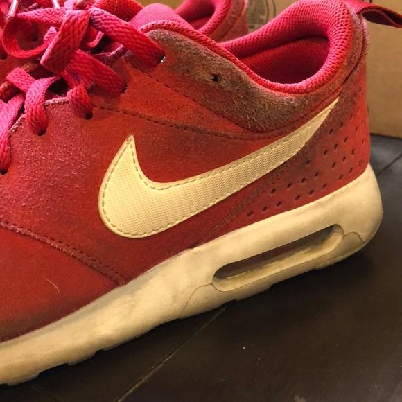 Nike Shoes | Mens Air Max Tavas Red Sneakers | Poshmark